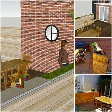 Terrasses patios r alisation de plan de projet ext rieur for Plan de patio exterieur en bois