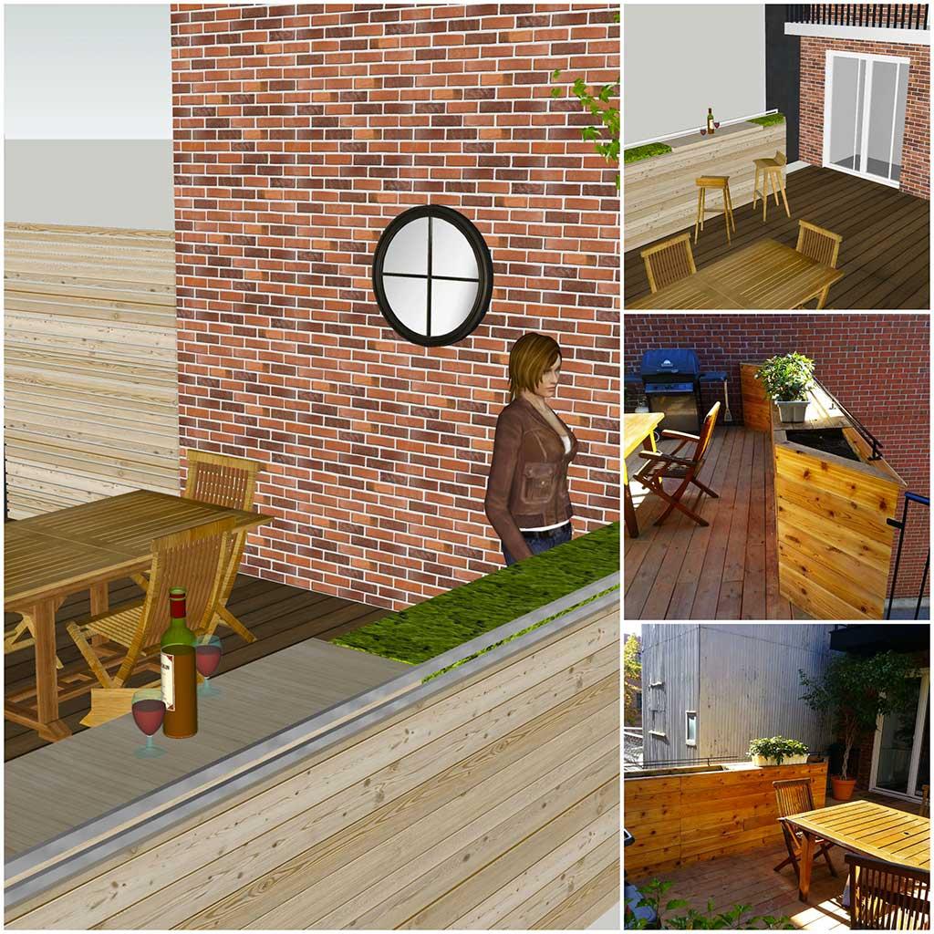 Plan de patio plan patio plan terrasse patio plan for Plan terrasse en bois