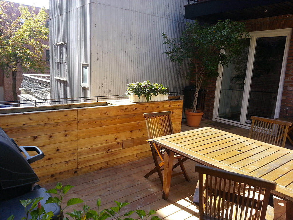 Wood Deck Building Patio Building Montreal Laval